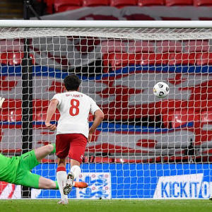 England 0-1 Denmark: Eriksen penalty earns win after Maguire saw red