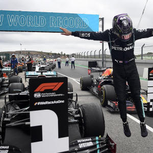Hamilton breaks Schumacher's record for race wins at Portuguese GP