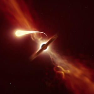 Scientists capture a star being devoured by a supermassive black hole