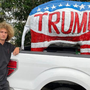 Student BANNED from school parking lot after Trump display on truck