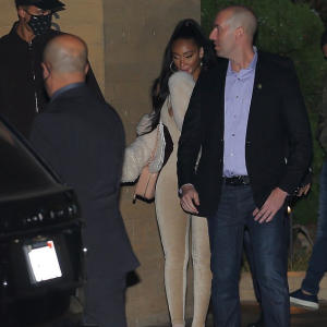 Winnie Harlow joins her Lakers beau Kyle Kuzma for celebratory dinner